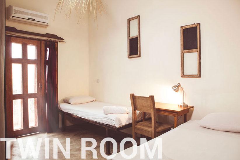 twin room - somewhere nice