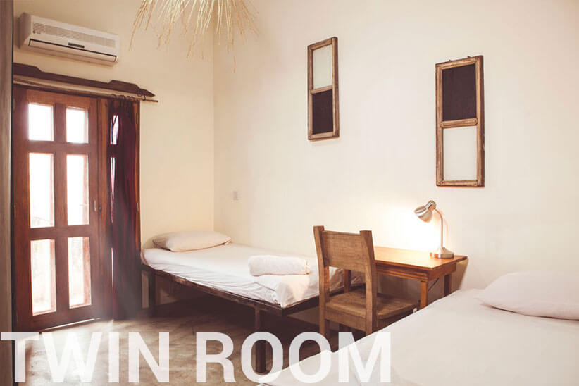 twin room - somewhere nice